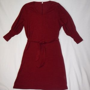 Wine Colored Sweater Knit Dress - NWOT